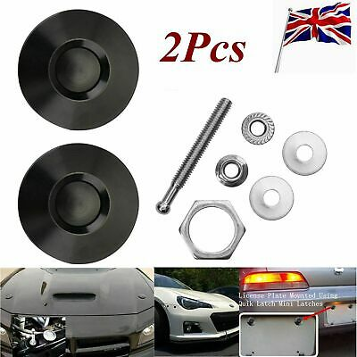 2X Universal Push Button Billet Hood Pins Lock Clip Car Quick Latch Bonnet for Mostly Car with Complete Installation Hardwares