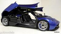 Gt Auto 1/18 Scale - 11007b Pagani Gta Huayra Supercar Blue Diecast Model Car