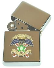 SBS SPECIAL BOAT SERVICE / SQN  WINDPROOF CHROME PLATED LIGHTER