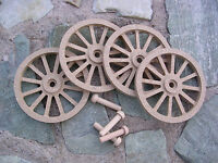 Wagon & Cannon Wheels - 3 Inch Diameter Mdf - Miniature Wooden Scale Model Toy