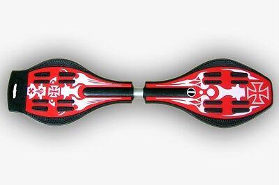 0p&p Vendita Croce Rossa Ripstik Skateboard Vigorboard Wave 88cm 75kg Senza Confezione-