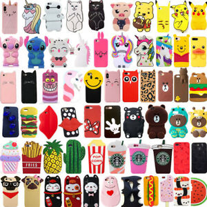 For-iPhone-SE-5-5s-5c-4s-Hot-3D-Cute-Cartoon-Soft-Silicone-Phone-Case-Cover-Skin