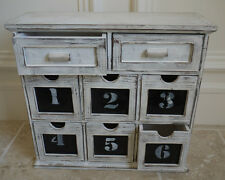 8 Drawer Rustic Cabinet French Vintage Style Shabby Chic Storage Chest Unit Box