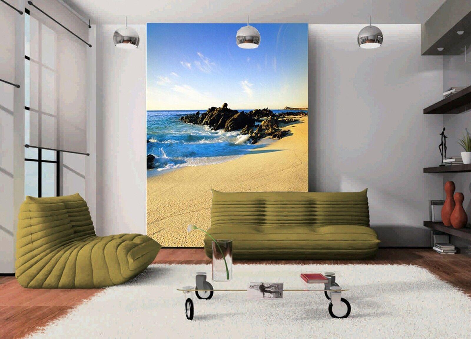 3D Tide Beach 3544 Wall Paper Wall Print Decal Wall Deco Indoor Wall Murals