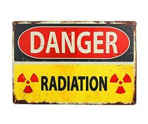 Details about US SELLER, danger radiation warning metal tin sign kitchen  decor signs