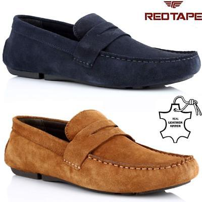 Mens Red Tape Leather Slip On Casual