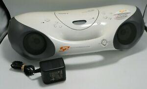 Sony ZS-X10 CD/FM/AM Boombox Audio System w/ Genuine Sony AC Adapter