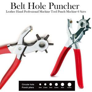 Ambitieux Ceinture En Cuir Hole Puncher Main Professionnel Machine Outil Punch Machine 6 Tailles-afficher Le Titre D'origine à Distribuer Partout Dans Le Monde