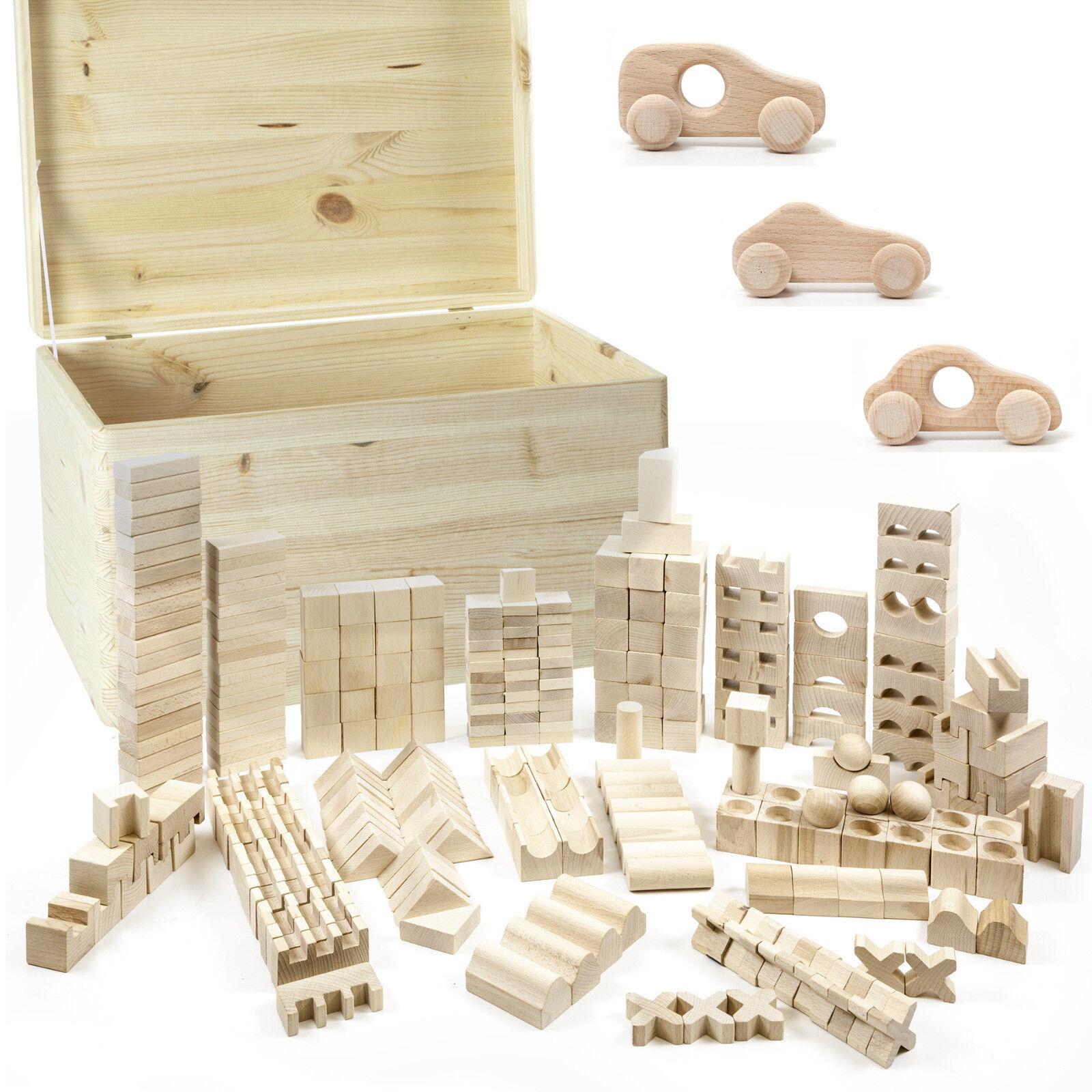 Holzspielzeug Grimm´s Großer Kistensatz Pastell Holz Stapelspiel Waldorf Aufbewahrung Kisten