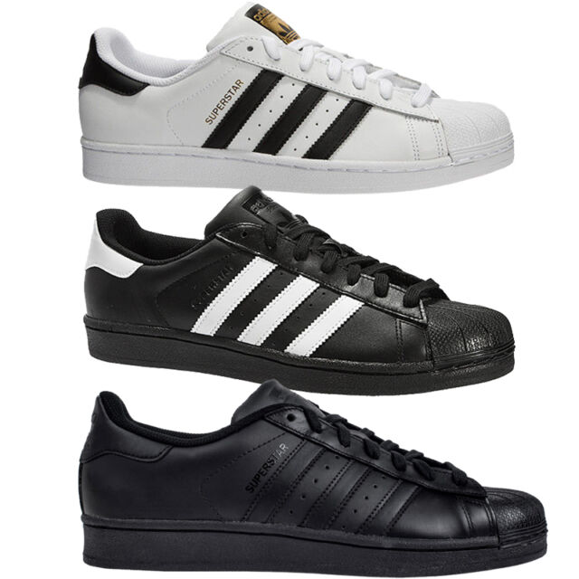 Superstar leather low trainers Adidas White size 7.5 UK in