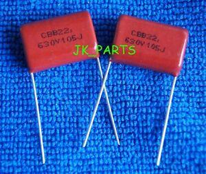 20pcs CBB 400V 105J 1uF Metallized Film Capacitor P=20MM