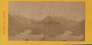 Vallée Da Chamonix Stereo Stereoview Vintage Albumina Ca 1865
