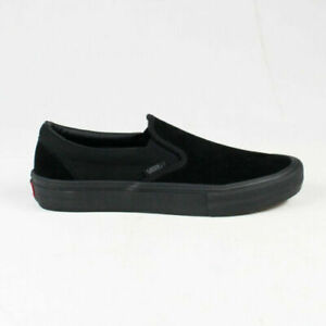 Vans-SlipOn-Pro-Skate-Shoes-Black-On-Black-100-Original