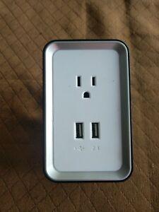 Sharper Image Usb Wall Outlet Plug Tsi 609 Plate Power Ebay