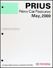 2001 Toyota Prius Hybrid Features Manual useful for 2002 2003 Service Training