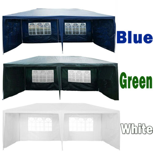 3MX4M 3Mx6M Gazebo Waterproof Marquee Canopy w// Sides Wall Outdoor Party Tent
