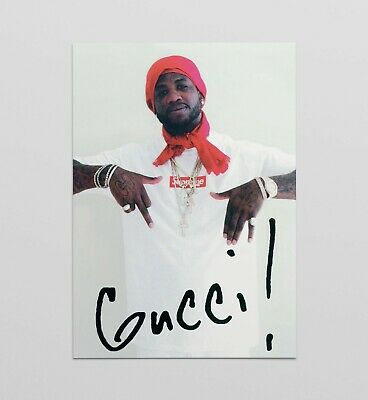 Supreme Gucci Mane Poster Art Print Limited A4 A3 Wall Art Box