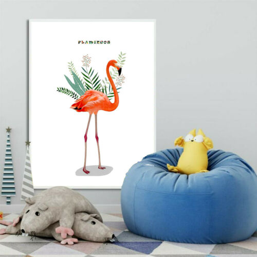Cactus Flamingo Nordic Canvas Poster Wall Picture Home Decor Art Print Unframed