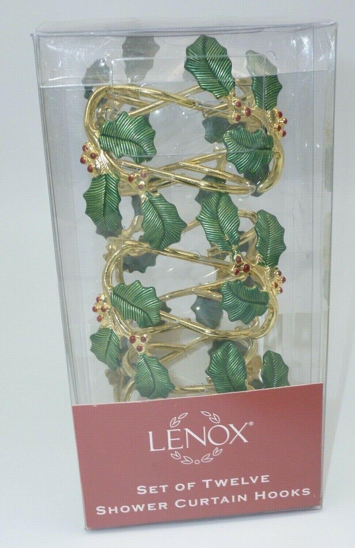 Lenox Bath Shower Curtain Hooks Set Of 12 Holiday Christmas 7754 Never Used