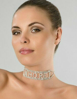 Sexy Rhinestone Necklace Choker Naughty Kinky Bondage BDSM Fetish FAST SHIPPING!