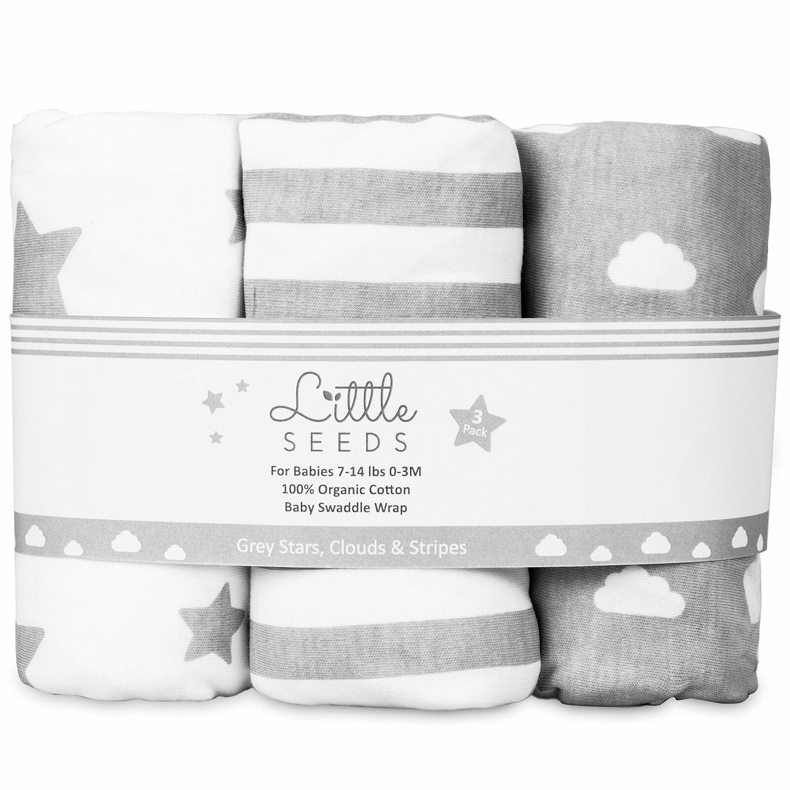 3PCS Baby Swaddle Wrap Newborn Blanket 0-3 Months 100/% Cotton Swaddles Throws