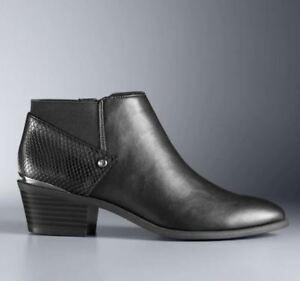 97ecc1c6c32 NWT Women s Simply Vera Vera Wang Vienna Ankle Boots Choose Size ...