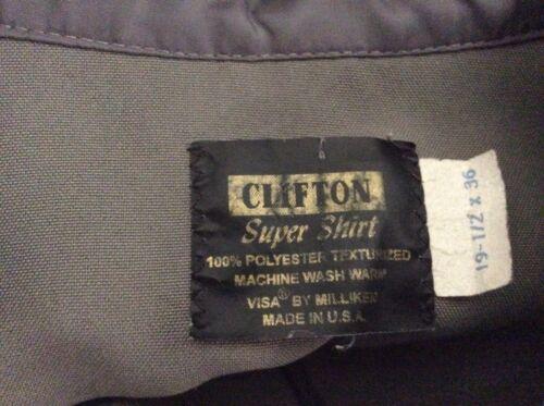 CLIFTON SUPER SHIRT LEO POLICE CORRECTION SECURITY OFFICER ZIP LS SHIRT 19.5x36