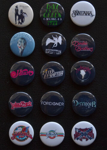 Set of 15 />/>FREE Shipping/</< Day on the Green 1977 Commemorative Buttons