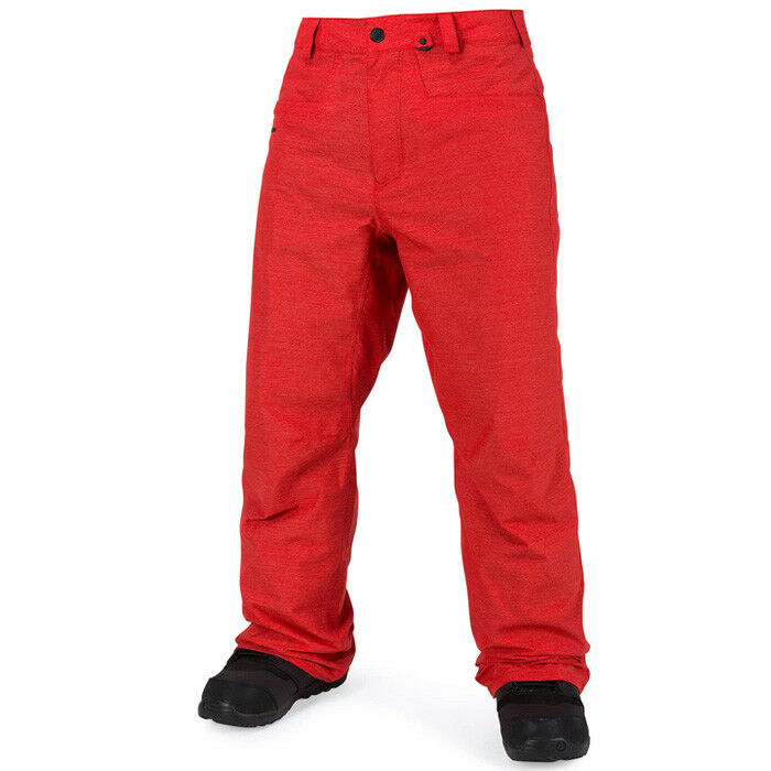 2019 NWT MENS VOLCOM CARBON PANTS   110 L fire red snowpant breathable lining  online shopping sports
