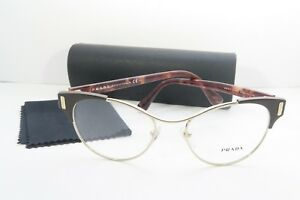 109b5c286557 Prada Women s Brown Glasses with case VPR 61T DHO-1O1 52mm ...