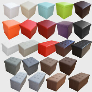 Style Home Siège Cube Ottomane Pliable Tabouret Sélecteur De Couleur Boîte De Rangement-ox Fr-fr Afficher Le Titre D'origine