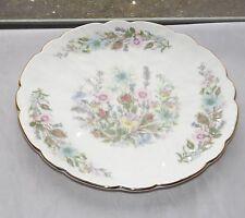Aynsley Fine Bone China Cake Plate Wild Tudor Pattern  Scalloped Rim 21cm