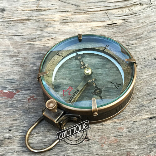 Transparent Glass Compass ~ Quote Engraved Compass ~ Traveler Scout Hiking Gifts