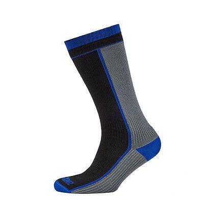 Bello Sealskinz Mid Peso Mid Lunghezza-calzini Impermeabili-nero/grigio- E Avere Una Lunga Vita