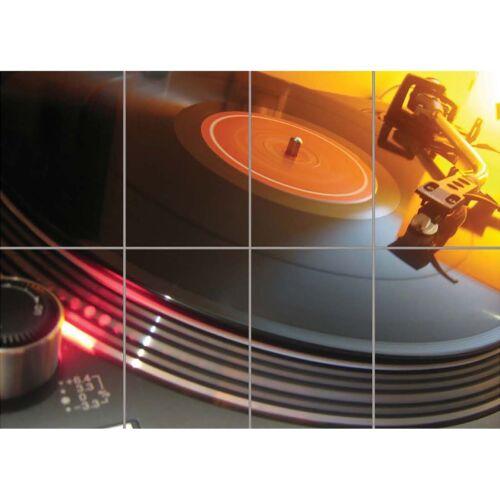 Technics 1210 Decks DJ Wall Art Multi Panel Poster Print 47X33 Inches