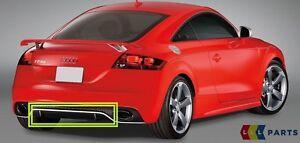 New-Genuine-AUDI-TTRS-10-14-Rear-Anti-Chocs-diffuse-spoiler-Trim-Black-8j0807514g
