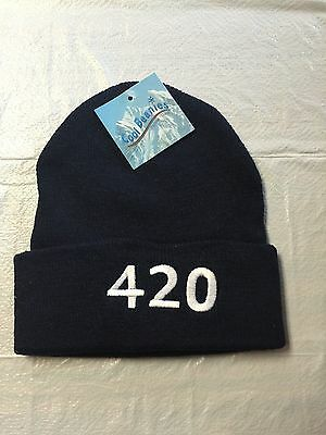 420 Clock Novelty Weed Graphic Beanie Caps Knitting Hat Warm Hedging Cap for Men Women Black Thin Section