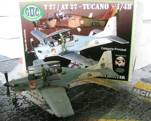 1 48-GIIC MODELS - EMBRAER T-27   AT-27 Tucano - FAB  -FULLY DETAILED