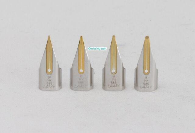 1 x Lamy Safari spare single 14 c gold nib in different sizes in Silver-Gold Z55