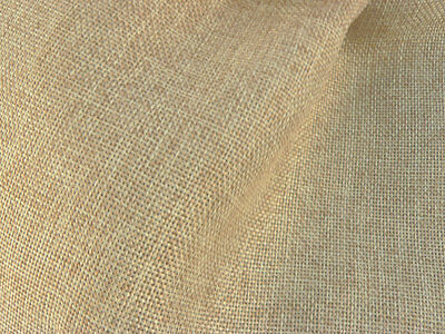 Drapery Fabric Colored Polyester Burlap Tight Weave Anti-Wrinkle - Lt.Gold