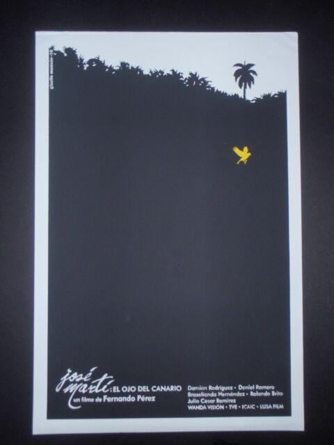 Cuban Silkscreen Poster EYE OF CANARY/ Movie about Cuba Hero, Poet JOSE MARTI