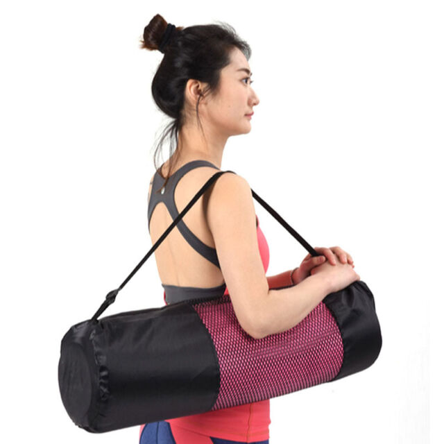 Ropa, Calzado Y Complementos Adjustable Strap Nylon Mat Bag Carrier Mesh For Yoga Gym Fitness Exercise Sports Useful