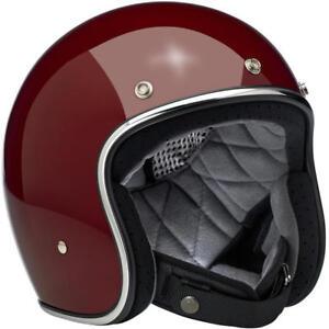 Small Biltwell Inc BONANZA Retro Open-Face Helmet LE Tracker Black//Grey//Gold