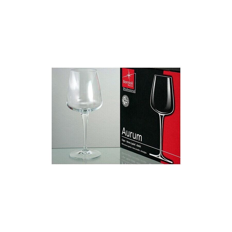 BORMIOLI ROCCO Set 2 Conf. 6 calici in vetro aurum vino rr cl52 Arrougeo Tavola