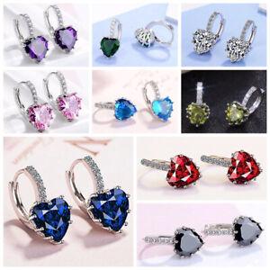 9-Colors-Elegant-Drop-Earrings-Women-925-Silver-Jewelry-Cubic-Zircon-A-Pair-set