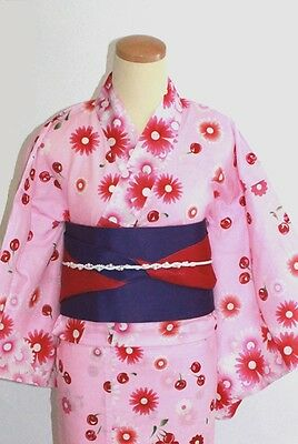Obbiettivo 浴衣 Yukata Giapponese - Pink Cherry - Import Direct Giappone 1507 Morbido E Antislipore
