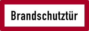 Aufkleber Folie Brandschutzzeichen DIN 4066 Brandschutztür 105x297mm #159//65
