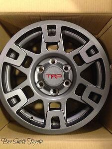 New Oem Toyota Gray Trd Aluminum 17 Inch Wheels 4 Piece Set Ebay