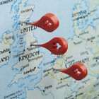 Design Ideas MAP MARKER, set of 8 Red Push Pin Pushpins Memo Holder #3206011