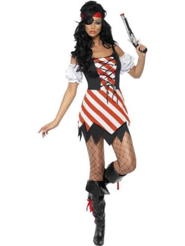 Mesdames fièvre pirate fancy dress costume Carribean mieux Kiera outfit